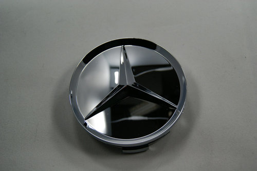 Mercede-Benz keskikuppi 74mm Full kromi
